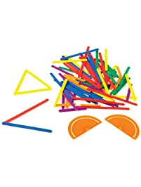 han2mind AngLegs Geometry Shape Kit with Classroom Activity Cards and Protractors (Pack of 72)
