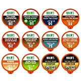 Maud's 12 Flavor Coffee Variety Pack. Recyclable Single Serve Coffee Pods - Richly satisfying arabica beans California Roasted, k-cup compatible including 2.0