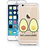 iPhone 6 6S Case by licaso® for the iPhone 6 6S TPU Case Let's Avocuddle Avocado Buddy Clear Protective Cover iphone6 Mobile Phone Sleeve Bumper (Let's Avocuddle)