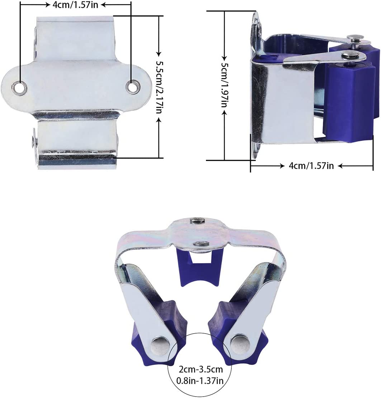 blue 12 pack 3-H Broom Mop Holder Garage Storage Hooks Wall Mounted Organizer for Bathroom Garden Garage Shelving