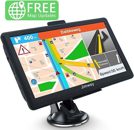 Jimwey GPS Navi Navigation f/ür Auto LKW PKW KFZ 7 Zoll Navigationsger/ät 8GB 256MB Lebenslang Kostenloses Kartenupdate POI Blitzerwarnung Sprachf/ührung Fahrspurassistent 2018 EU UK 52 Karten