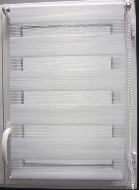 Store Enrouleur Journuit 45 X H90 Cm Blanc