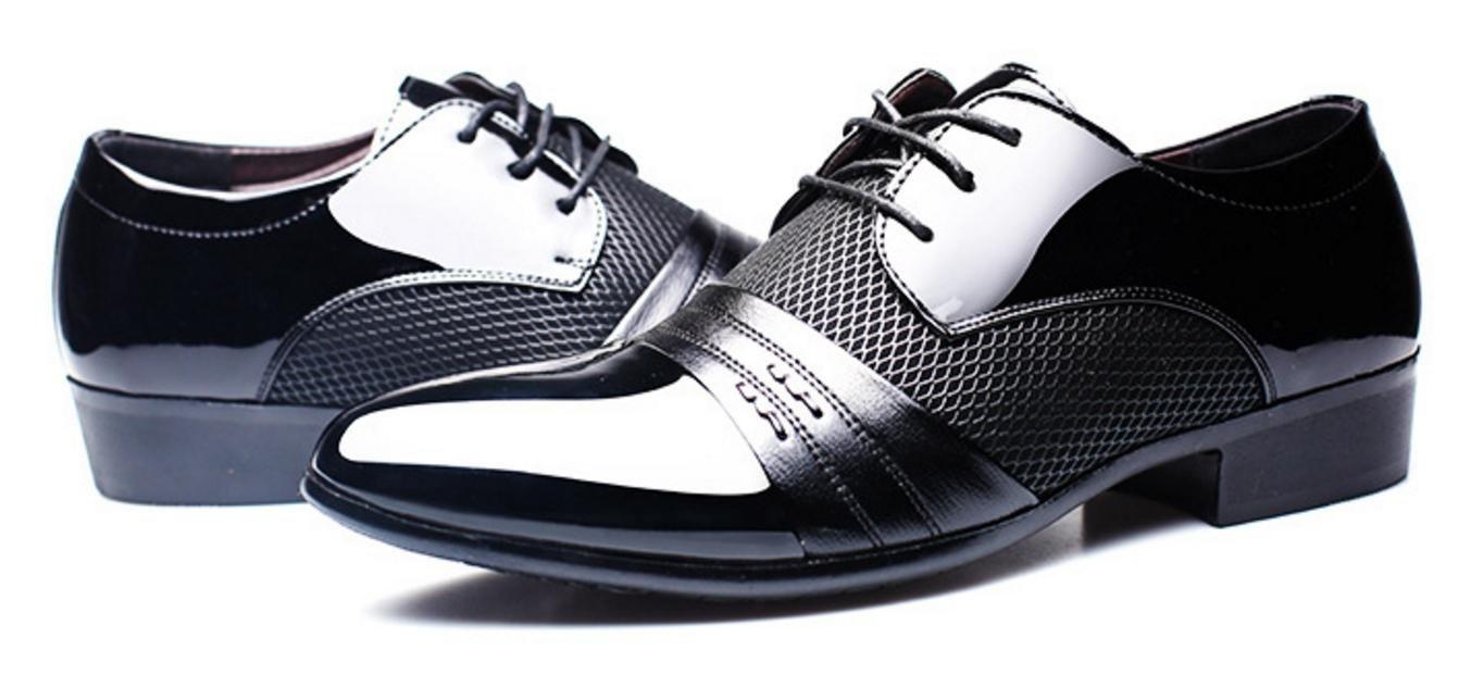 MLFMHR Herren Lackleder Smoking Kleid Business Schuhe schnüren sich Oxfords , black , 47 plus two yuan