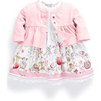 Ferenyi's Baby Girl's Clothes Long-sleeved Jacket and Floral Dress Sets