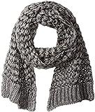 Rampage Women's Loose Knit Oblong Scarf, grey, One Size