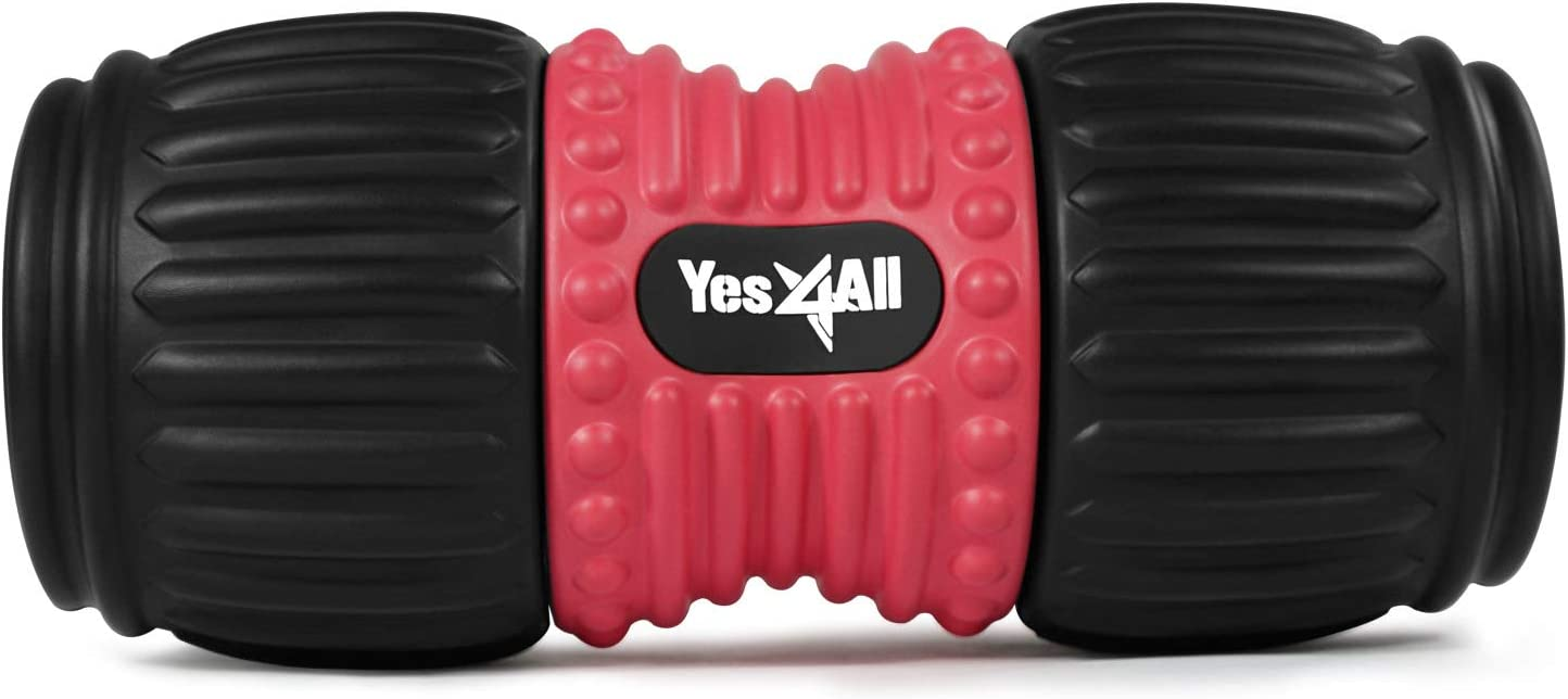 Yes4All Foam Peanut Roller for Muscle Pain, Headache Relief – Trigger Point Foam Roller for Deep Tissue Massage