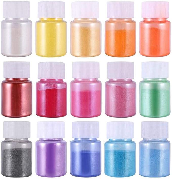 Amazon - 90%OFF DIY Mica Powder,Natural Powder Pigments,Powder Resin in Bottle Organized for Eye Shadow, Blush, Nail, Adhesive Pigments Bath, Bath Bomb Dyes, Soap Making