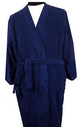 Amazon.com: mens towelling dressing gown bathrobe 2xl 3xl 4xl 5xl ...
