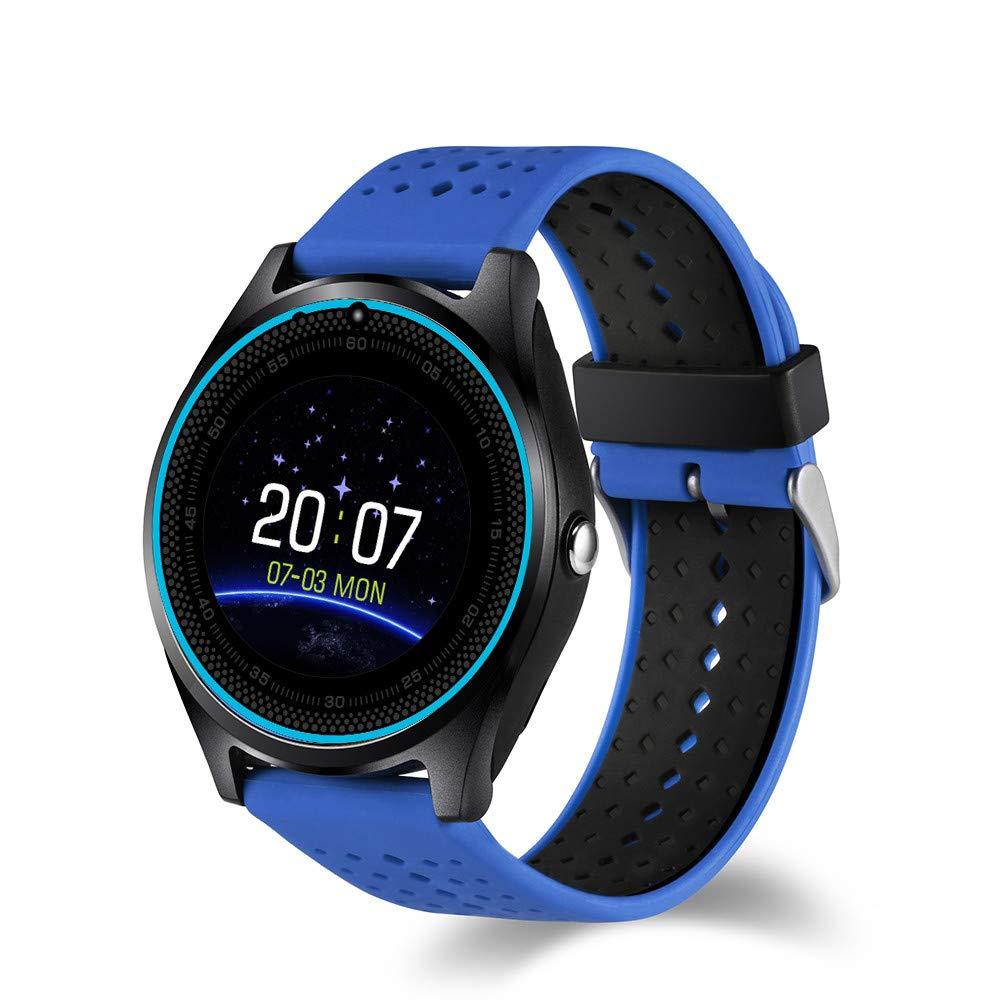 Boens Smartwatch Men, HD Full Circle Display with Camera Bluetooth Armband Pedometer Heart Rate Monitor Micro Sim Card