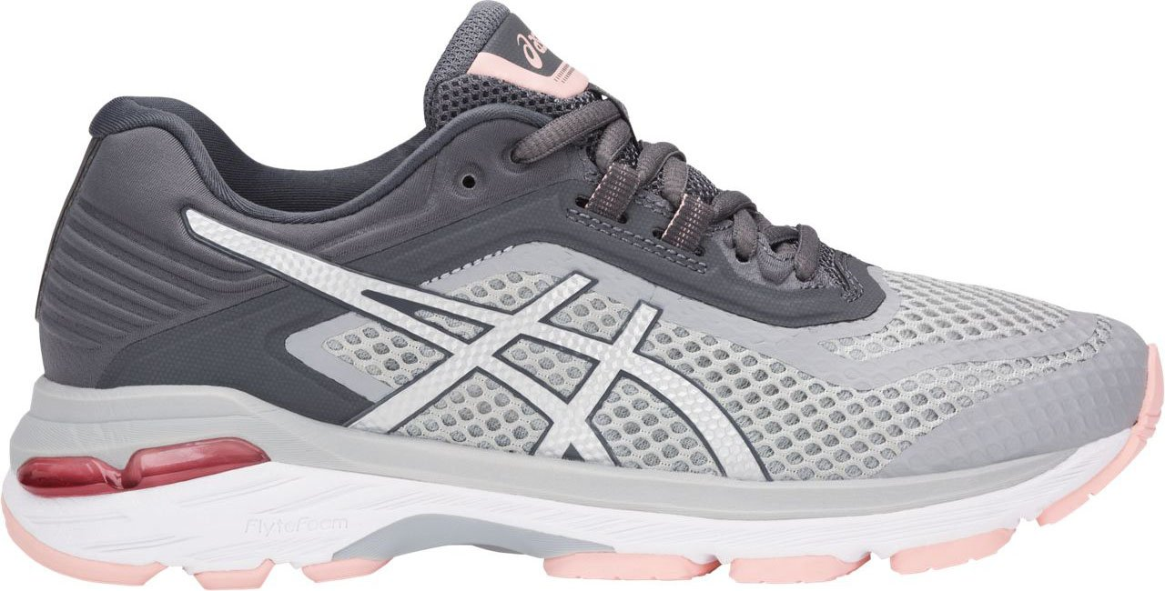ASICS Women's GT-2000 6 Running Shoes, Mid Grey/Silver/Carbon 7