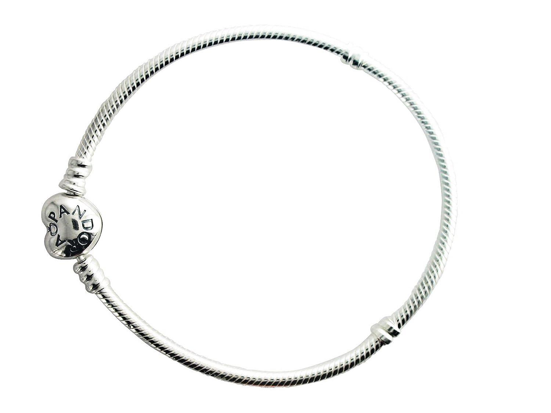 2b39c6c09 Amazon.com: Pandora Bracelet Sterling Silver w/ Heart Clasp 21cm/8.3