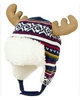 Bigood Bonnet Bébé Enfant Coton Chapeau Cerf Cache Oreilles Chauffant