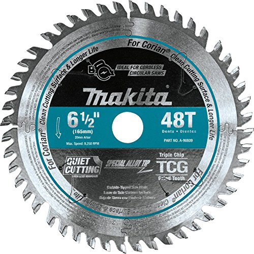 Makita A-98809 6-1/2 inch 48T Carbide-Tipped Cordless Plunge Saw Blade