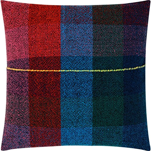 Zuzunaga Merino Wool Seat Cushion | Dark Squares by Zuzunaga