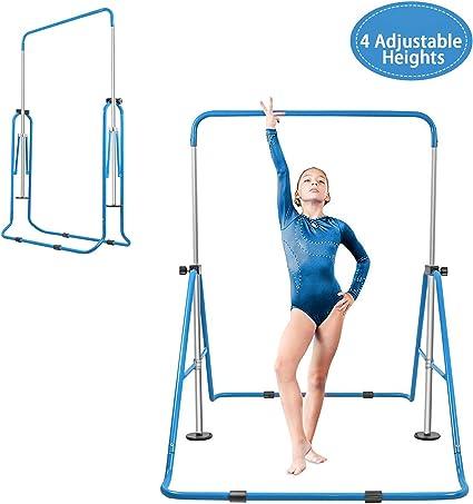 Folding Horizontal Kip Bars Junior Premium Gymnastic Equipment Monkey Climbing Tower Home Training for Kids YEEGO Expandable Gymnastics Bar