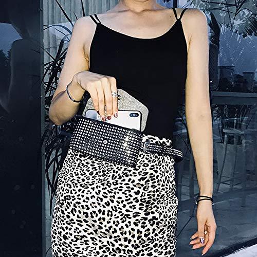 13c9b85d3368 Amazon.com: DTE SHOP fashion rivets waist pack luxury designer fanny ...