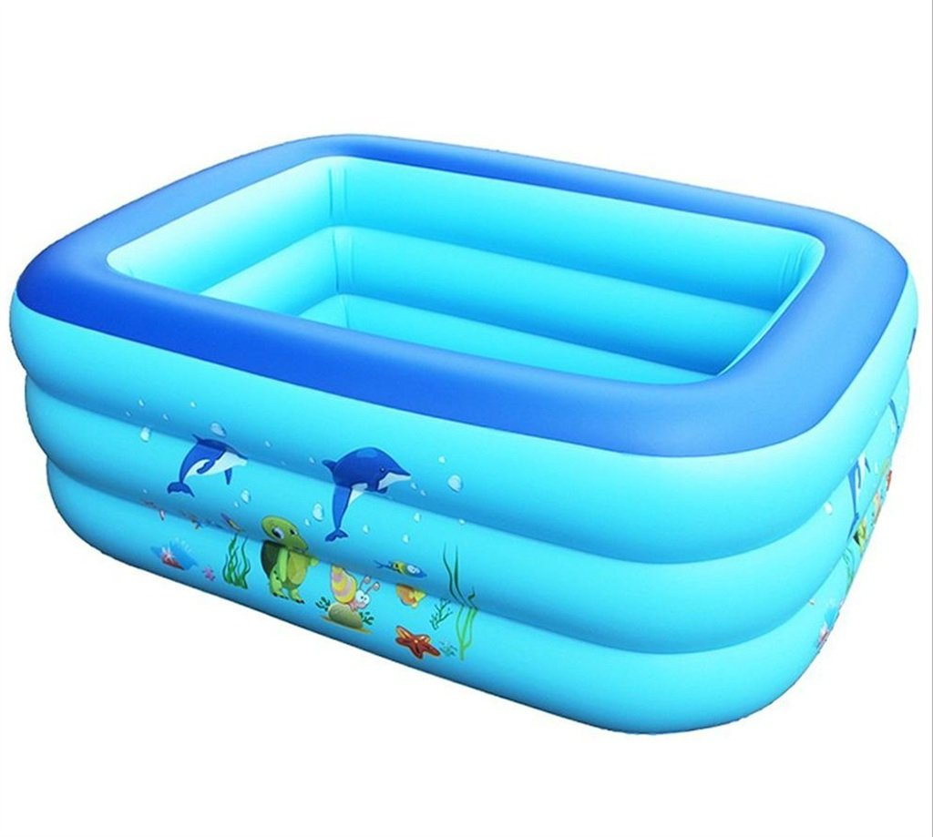 1 CQYGZHL Inflatable bathtub, Thickening baby Inflated Square Play pool plastic Collapsible Bath Bathing Tub (color    1)