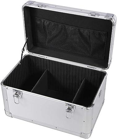 Caja de Herramientas Multiusos Caja de herramientas de hardware de aluminio de transporte de aluminio resistente del tiempo y resistente Dent doble cerradura de la llave de seguridad acolchado divisor: Amazon.es: Hogar