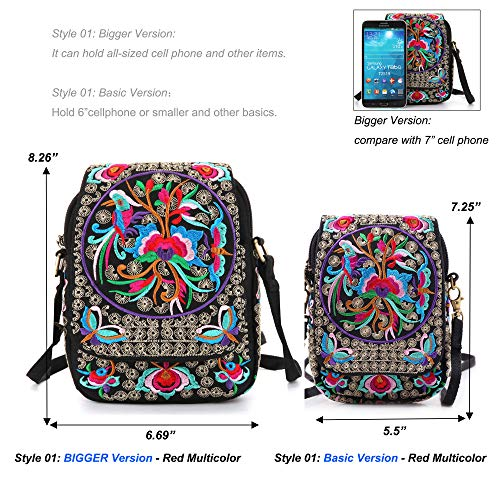 134a6d2415ca ... Goodhan Vintage Printed Handmade Women Mini Crossbody Bag Cellphone  Pouch Small Handbag Coin Purse (S01 ...