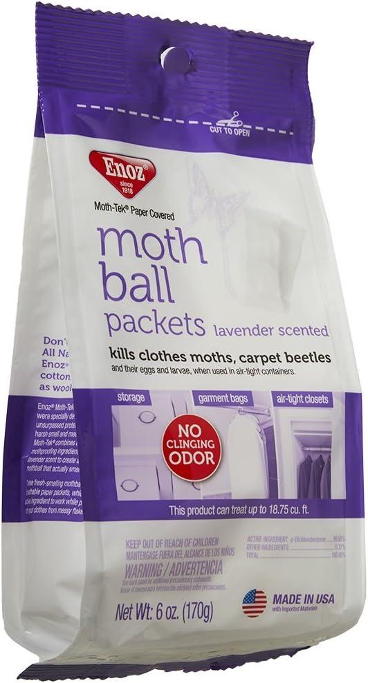 Enoz Moth-Tek Packets Lavender Scent