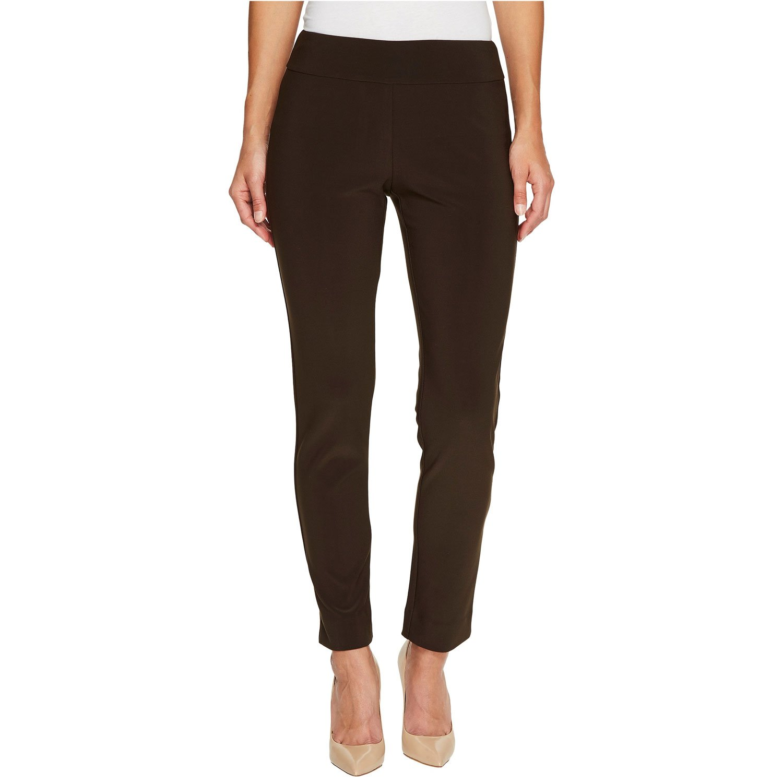 Brown Krazy Larry Women's Microfiber Long Skinny Dress Pants