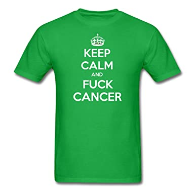 Epsion On discount Men's Keep Calm And Fuck Cancer T-Shirts