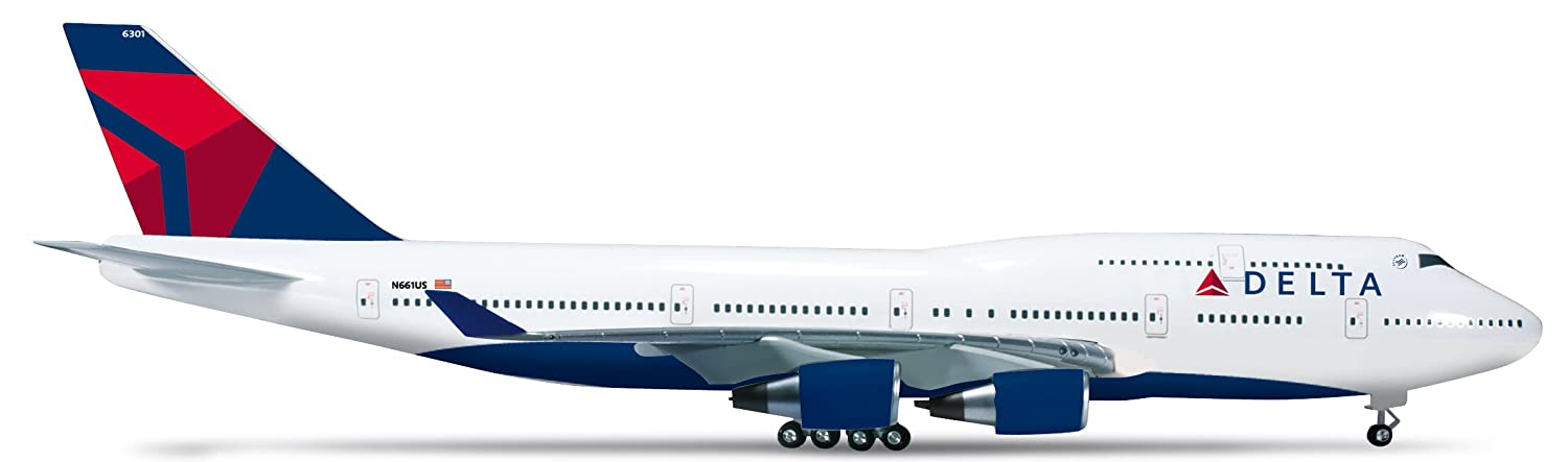 Herpa 555159 - Delta Air Lines Lines Lines Boeing 747-400 c5a858