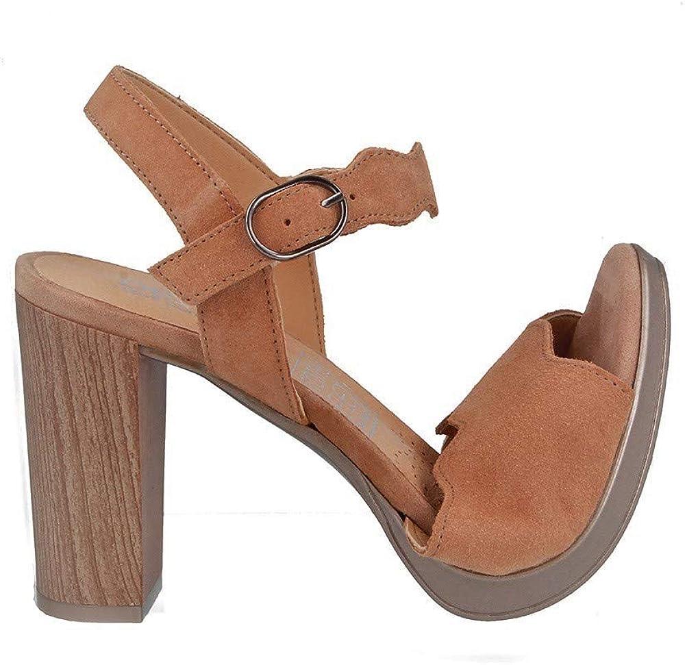 DESIREE 91114 Total Flex Zapatos de Tacon para Mujer de Piel Suede