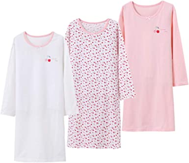 Aablexema camisón de algodón para niñas, Pijama para niña ...