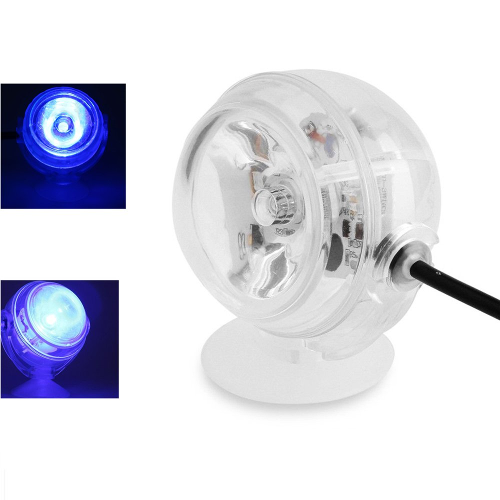 Yakamoz 220v 1W LED Spot Ampoule Submersible pour Aquarium Spot LED Projecteur Lampe Spot Light étanche Lumineux Piscine sous-Marines Ultra - Brillante Bleu