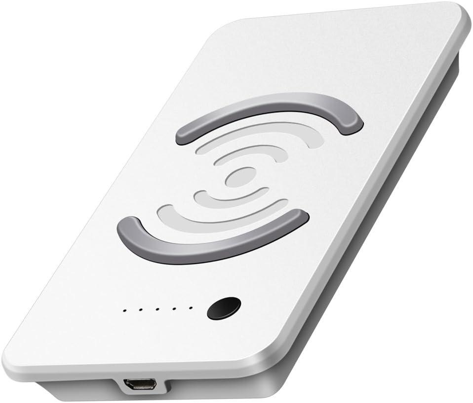 Cargador inalámbrico banco de la energía 9000 mAh cargador Banco de alimentación portátil cargador, musttrue Qi carga inalámbrica Qi para Samsung Galaxy Note 8 S8 y carga estándar para iPhone X/8/8 Plus: