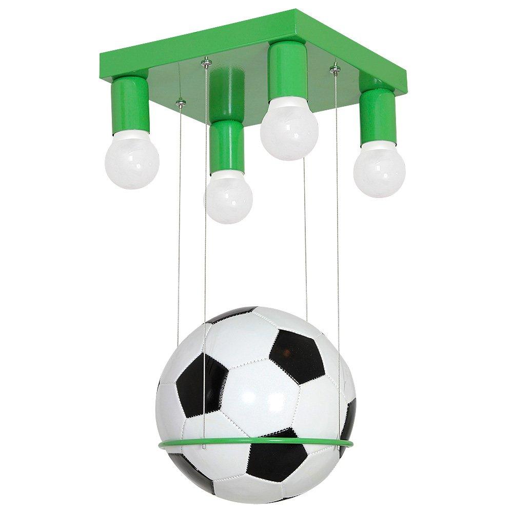 941 Lampadario a sospensione cameretta bambini, ragazzi, bimbo, con vero pallone da calcio, Football. decoland