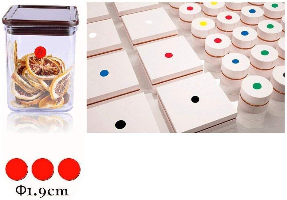 codice colore 50 mm 16 colori//foglio Etichette a puntini rotonde 2112 pezzi