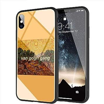 iPhone 7 Plus Funda, iPhone 8 Plus Funda, Cubierta Trasera de Vidrio Templado, Silicona Suave, Compatible con iPhone 7 Plus/8 Plus AMA-84 Art ...