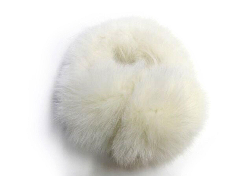 Ivory Fox Ear Muffs w/Fur on Band