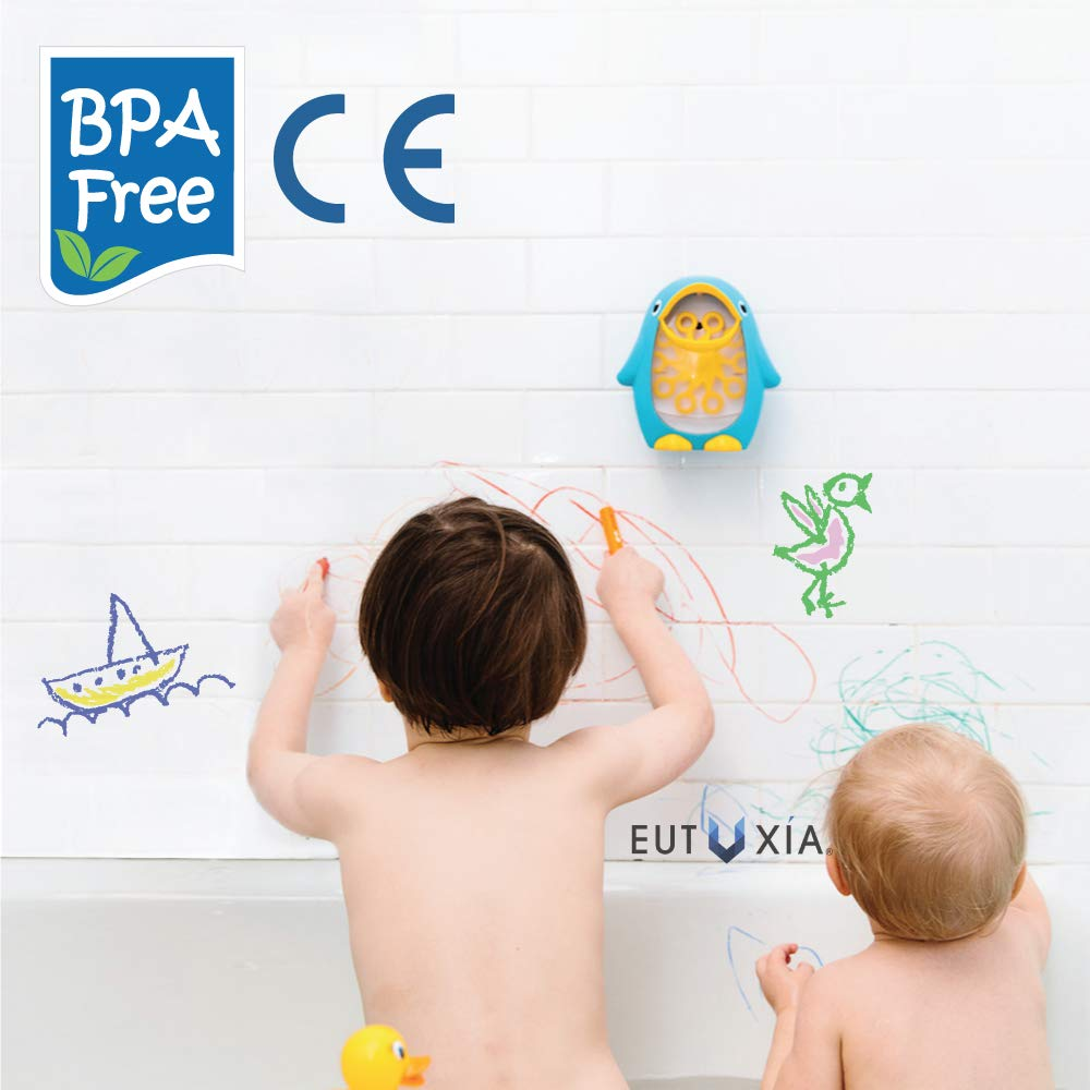 Colorful Bathtub Shower Toys for Kids Eutuxia 6 PK Baby Bath Crayons Non-Toxic BPA Free New 2019 Easily Washable Toddlers Safe Retractable
