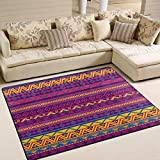 ALAZA Mexican Style Aztec Tribal Ethnic Area Rug Rugs for Living Room Bedroom 7' x 5'