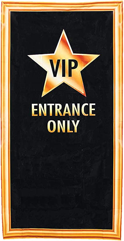 Fun Express VIP Entrance Door Cover | 1 Count | Great for Birthday/Christmas/Halloween/Graduation Parties, Hollywood/Movie Night/Broadway Theme