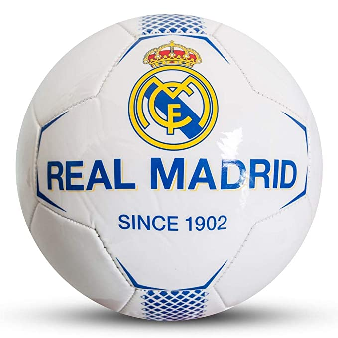 Real Madrid CF - Balón blanco (Talla Única) (Blanco): Amazon.es ...