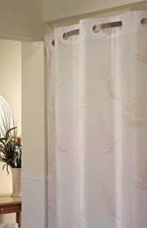 Hookless Fern Print PEVA Lined Shower Curtain
