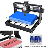Craftsman Upgrade CNC 3018 Pro GRBL Control DIY CNC Machine,3 Axis PCB PVC Milling Engraving Machine,Wood Router Laser Engraving XYZ Working Area 300x180x45mm
