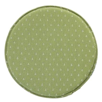 Japanese Style Round Chair Cushion Seat Pad Non Slip Chair Cushion, Green