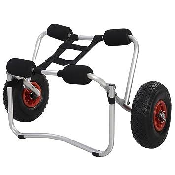 Diseño con bolsas carro canoa Kayak tapa en la parte de ruedas para trasportar personas portátil
