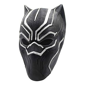 VUKUB Halloween Decoración Negro Pantera Médico Máscara Traje Máscara Cosplay Full Head Máscara Látex Fuego Lobo