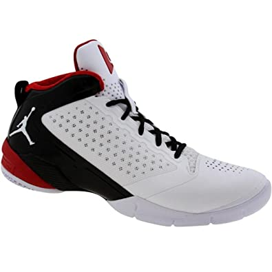 pretty nice 433b0 2897c Amazon.com   Nike Men s Jordan Fly Wade 2 Basketball Shoe  White Black  Varsity Red   Basketball