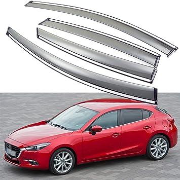 For Mazda 3 Hb 2010-2013 Window Visors Side Sun Rain Guard Vent Deflectors