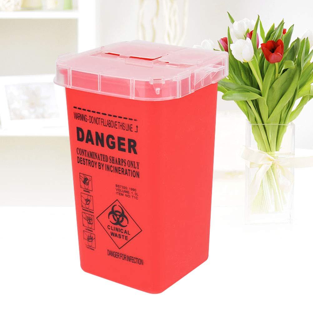 Healifty Sharps Box Tattoo Nadeln Entsorgung Container medizinische Versorgung und Ausr/üstung rot