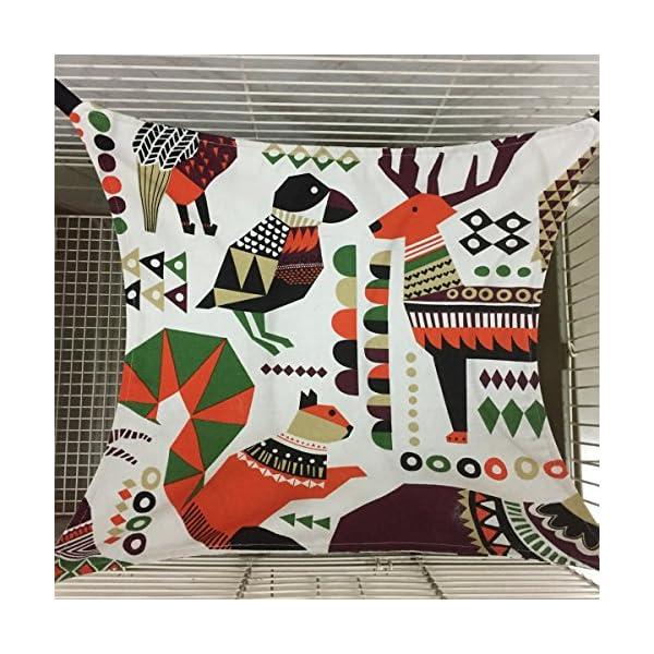 Margelo Pet Cage Hammock, Cat Ferret Hammock Bed for Bunny/Rabbit/Rat/Small Animals 3