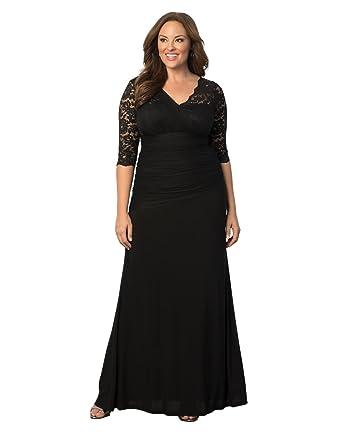 1f861ecc183 Kiyonna Women s Plus Size Soiree Evening Gown 0x Onyx