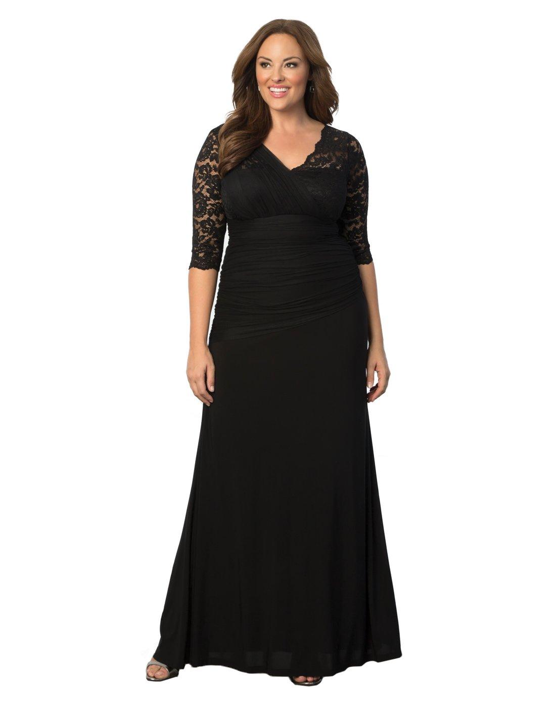 Kiyonna Women's Plus Size Soiree Evening Gown 2x Onyx